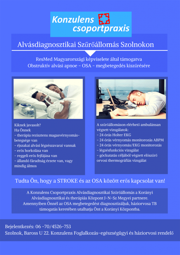 Alvásdiagnosztika szűrőállomás